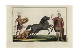 King Pyrrhus in Greek Armour and a Greek Warrior with Chariot, Harness and Lance Giclee Print