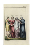 Juno, Roman Goddess of Marriage, with Bride, Groom and Mother of the Bride Giclee Print