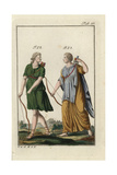 Diana the Hunter with Bow and Arrow, and Dido in Phrygian Dress Giclee Print