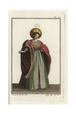Italian Noblewoman in Courtly Dress, 1303 Giclee Print