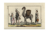 Roman Boy with Bulla Amulet, and Roman Slaves and Camel Giclee Print