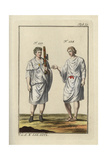 Roman Lictor with Fasces (Hatchet) and a Roman Man in Tunic Giclee Print