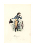 Parisian Fashion, Reign of Louis XVI (French Revolution), 1792 Giclee Print