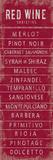 Wine Varieties III Giclee Print