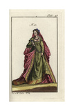 Woman of Rome in Full Attire 1581 Giclee Print