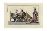 Roman Married Couple Seated at a Table Giclee Print