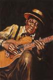 Guitar Giclee Print by Hazel Soan