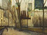 Twilight, Central Park, New York Reproduction procédé giclée par Clive McCartney