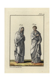 Two Roman Vestal Virgins, Priestesses of Vesta Giclee Print