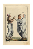 Egyptian Priest with Scroll and Another Priest with Waterjug Giclee Print