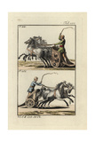 Roman Racing Chariots- Four-Horse Quadriga at Top and Two-Horse Biga Below Giclee Print