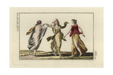 Roman Dancing Girls in Seethrough Robes Giclee Print
