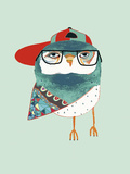 Cool Owl Giclee Print by Ashley Percival