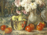 Still Life with Fruits and Flowers Giclee Print by Jean Laudry