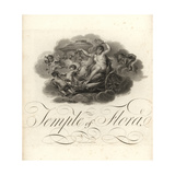 Temple of Flora, Title Page with Vignette of Cupids and Flora Giclee Print