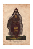 Koisan Woman of South Africa in Full Dress Wearing Animal Skin Cape Giclee Print