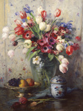 Spring Flowers and Ginger Jar Giclee Print by Fernand Toussaint