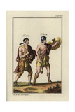 Roman Slingers with Slingshot and Stones Giclee Print