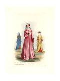 Women's Costume Giclee Print by Charles Martin