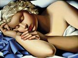 The Sleeping Girl (Kizette) I Reproduction procédé giclée par Tamara de Lempicka