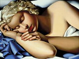 The Sleeping Girl (Kizette) I Fotodruck von Tamara de Lempicka