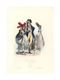Merveilleuse and Incroyables, Parisian Fashions Post-Revolution, Convention Nationale, 1795 Giclee Print