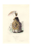 Parisian Women's Fashion, Regne of Louis XVI, 1777 Giclee Print