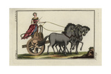 Woman Driving a Greek Four-Horse Chariot Giclee Print