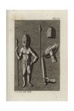 Indian Warrior with Spear, Sword, Shield and Helmet Giclee Print