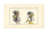 Woman in Half-Redingote and Bonnet Giclee Print