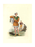 Costume of the Time of William the Conqueror Giclée-trykk av Charles Martin