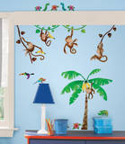 Monkey Business Peel & Stick Wall Decals Kalkomania ścienna