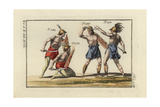 Four Samnite Gladiators of the Roman Games Giclee Print
