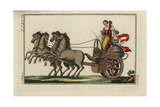 Women Driving a Greek Four-Horse Chariot Giclee Print
