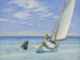 Anschwellen des Meeresbodens Fotografie-Druck von Edward Hopper