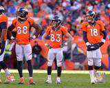 Demaryius Thomas, Wes Welker, & Peyton Manning 2013 Playoff Action Photo
