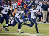 NFL Super Bowl 2014: Feb 2, 2014 - Broncos vs Seahawks - Percy Harvin Photographic Print by Matt York