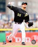 Charlie Morton Game 4 of the 2013 NLDS Action Photo