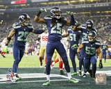 The Seattle Seahawks Celebrate winning the 2013 NFC Championship Game Photo