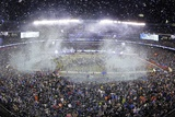 NFL Super Bowl 2014: Feb 2, 2014 - Broncos vs Seahawks - MetLife Stadium: Seahawks Victory Print by Charlie Riedel