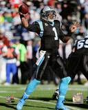 Cam Newton 2013 Playoff Action Photo