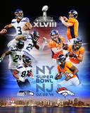 Super Bowl XLVIII Seattle Seahawks Vs. Denver Broncos Match Up Composite Photo