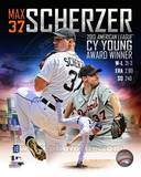 Detroit Tigers Max Scherzer 2013 American League Cy Young Winner Portrait Plus Photo