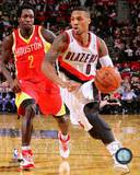 Portland Trail Blazers Damian Lillard 2013-14 Action Photo