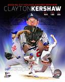 Los Angeles Dodgers Clayton Kershaw 2013 National League Cy Young Winner Portrait Plus Photo