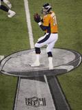 NFL Super Bowl 2014: Feb 2, 2014 - Broncos vs Seahawks - Peyton Manning Posters av Mel Evans