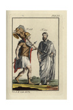 Emperor Romulus Augustus in Battledress Carrying the Spolia Opima (Rich Spoils), and a Roman Consul Giclee Print