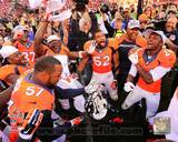 The Denver Broncos Celebrate winning the 2013 AFC Championship Game Photo