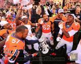 The Denver Broncos Celebrate winning the 2013 AFC Championship Game Photo