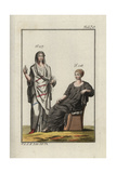 Roman Woman in Tunic and Polla and Woman in Tunic and Ricinium Giclee Print